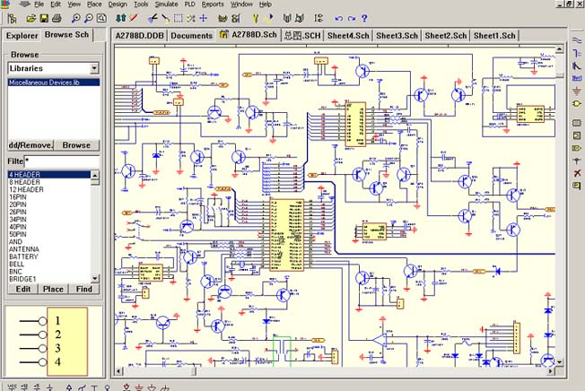 PCB schematic making