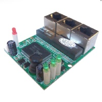 3 Port Ethernet Switch Module 2 Layer PCB Assembly